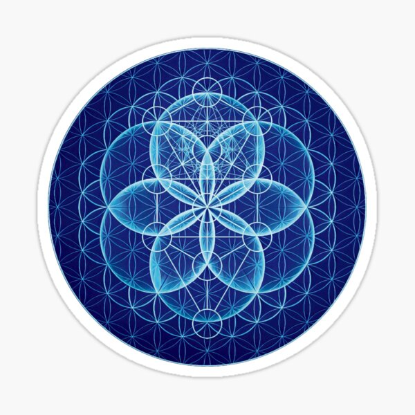Metatron's Cube in Tree of Life in Seed of life in Flower of Life Sticker