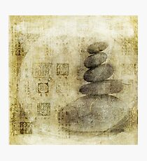 Stone Meditation Photographic Print