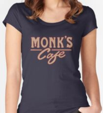 Monk's Cafe – Seinfeld, NY Women's Fitted Scoop T-Shirt