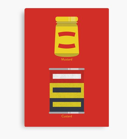 Custard, Mustard Canvas Print