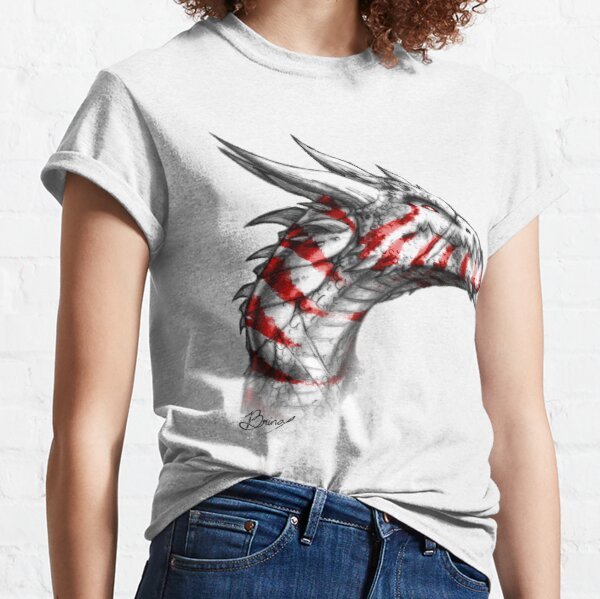Noble Tiger Dragon in Red Classic T-Shirt