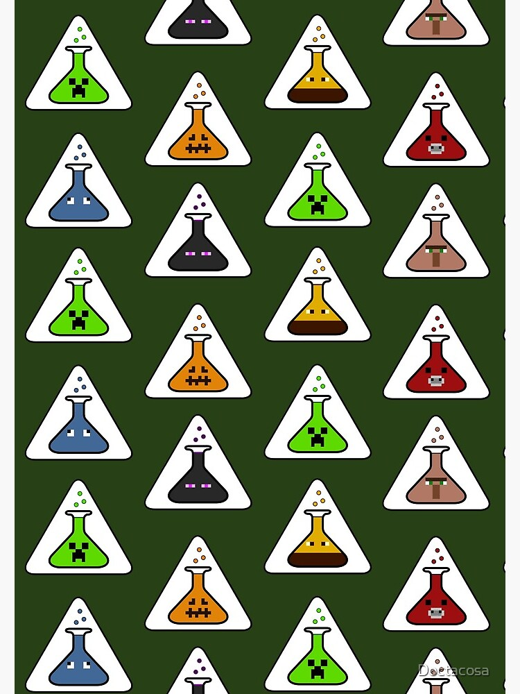 Creeper's Lab - All the beakers by Doctacosa