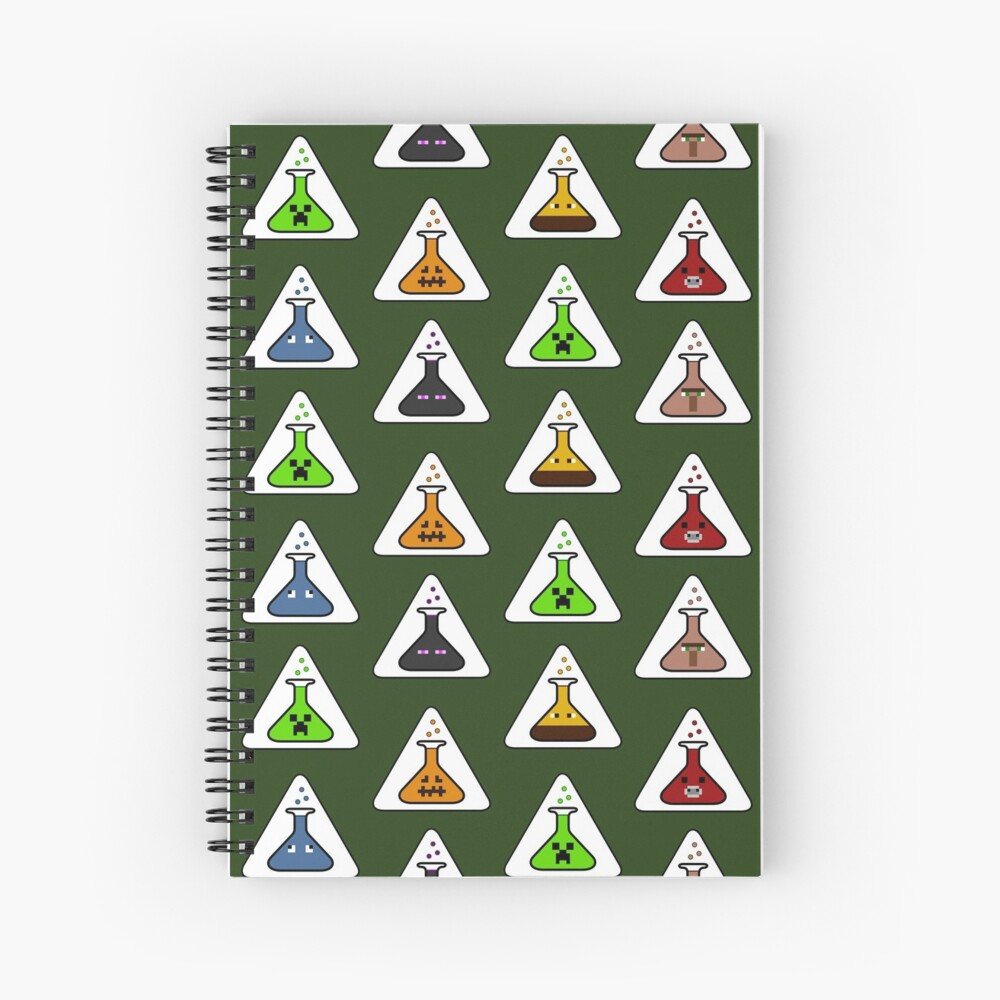Creeper's Lab - All the beakers Spiral Notebook
