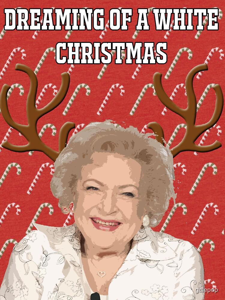 """Die goldenen Mädchen """", die von einer weißen Weihnacht"""" Gruß-Karte träumen von galepop"""