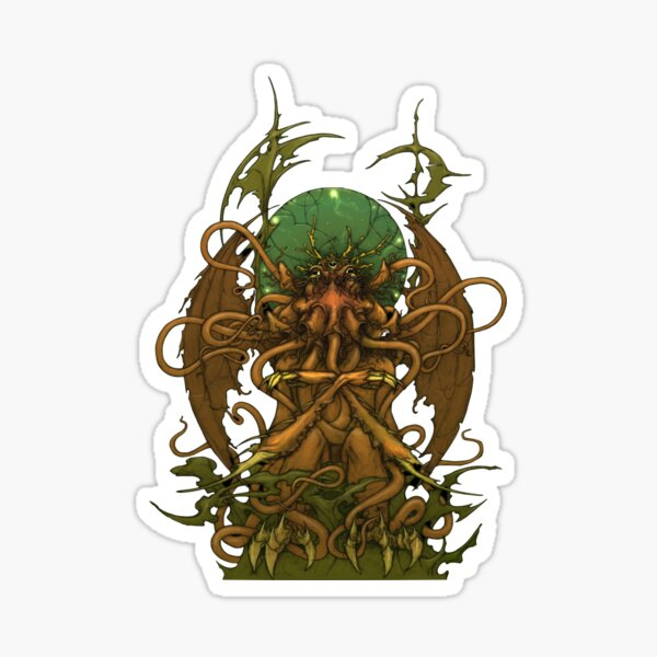 Cthulhuween Day 31 - The Great Cthulhu by Tom Brown Sticker