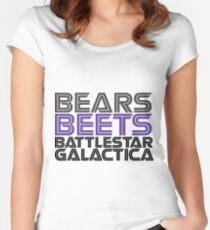 Bears, Beets, Battlestar Galactica. Women's Fitted Scoop T-Shirt