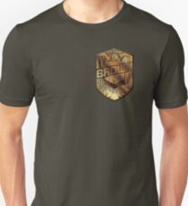Custom Dredd Badge - Brown T-Shirt