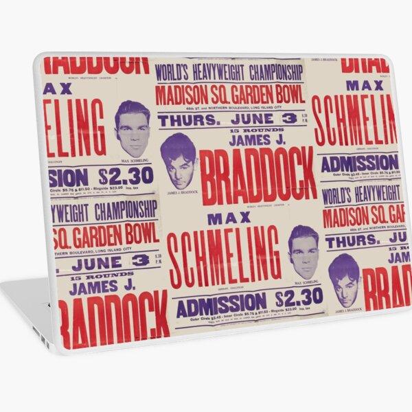 Vintage Old School Boxing Poster Laptop Skin