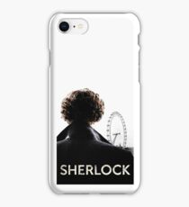 SHERLOCK CASE - WHITE iPhone Case/Skin