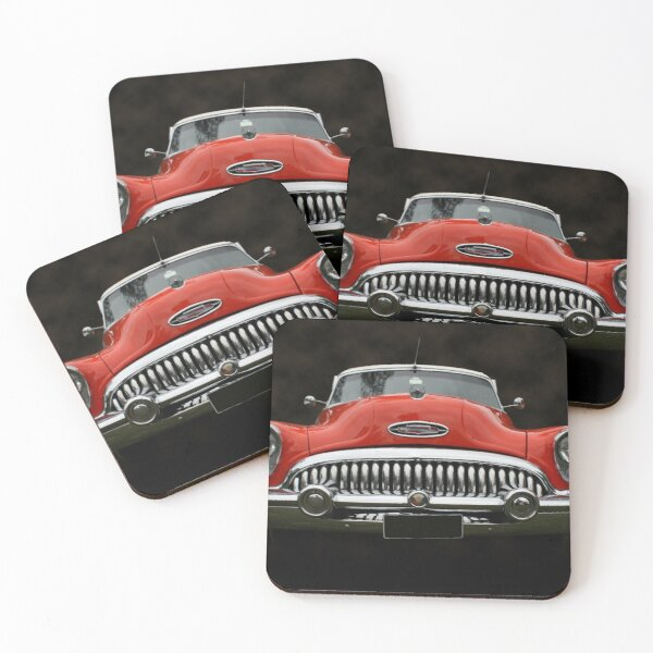All Chrome and Curves Coasters (Set of 4)