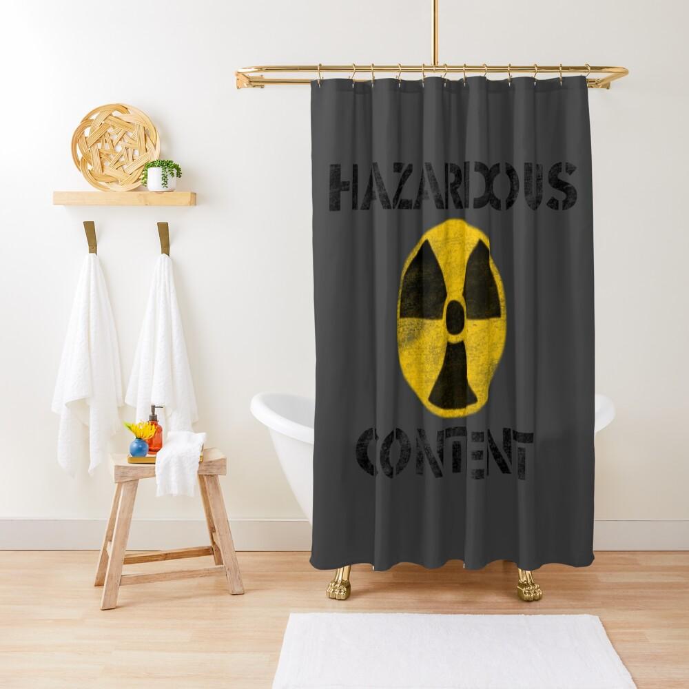 Hazardous Content Shower Curtain