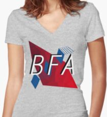 Bachelors of Fine Art LOGO Women's Fitted V-Neck T-Shirt