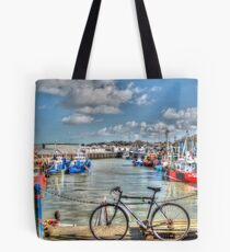 Whitstable Harbour Fishing village  Tote Bag