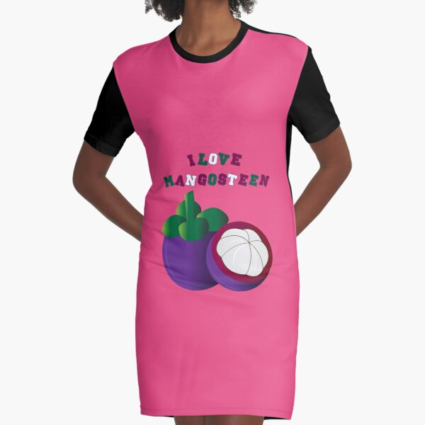I LOVE MANGOSTEEN - THE BEAUTIFUL THAI FRUIT FOR #SEPTCHO2020 Graphic T-Shirt Dress