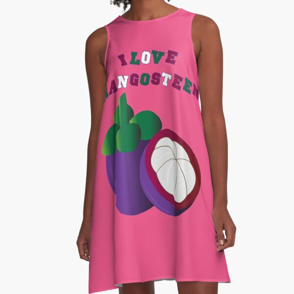 I LOVE MANGOSTEEN - THE BEAUTIFUL THAI FRUIT FOR #SEPTCHO2020 A-Line Dress