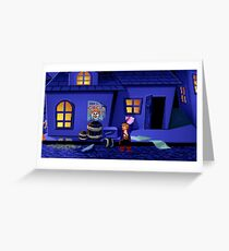 Guybrush and the voodoo (Monkey Island 2) Greeting Card
