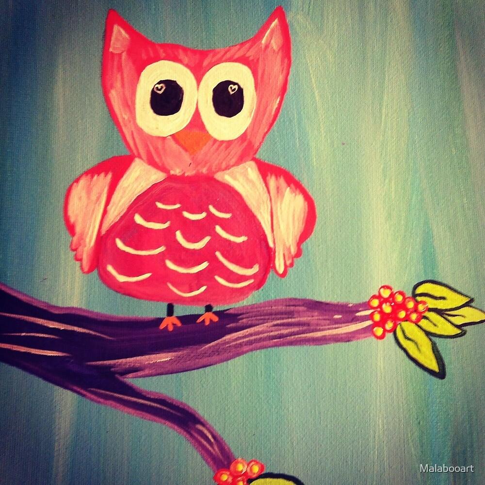 Owl in a Tree by Malabooart