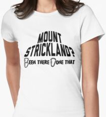 Mount Strickland Mountain Climbing Womens Fitted T-Shirt