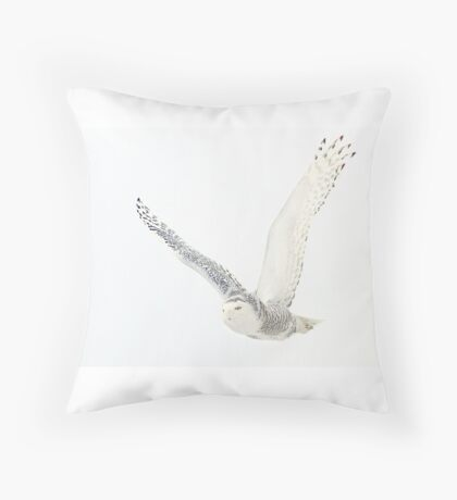 Afternoon Flight - Snowy Owl Throw Pillow
