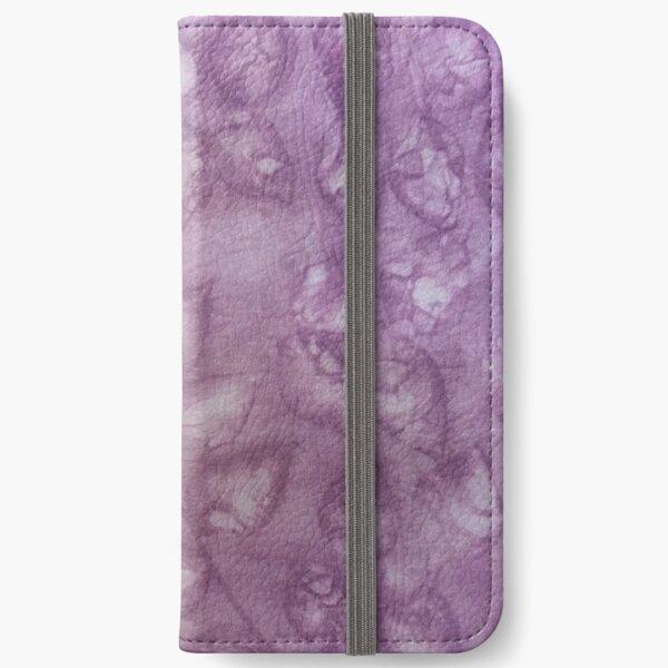 Hand-Dyed Purple Silk Leaf Designer Eco-print Pattern iPhone Wallet