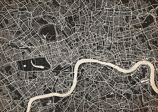 london map ink lines by InkMaps