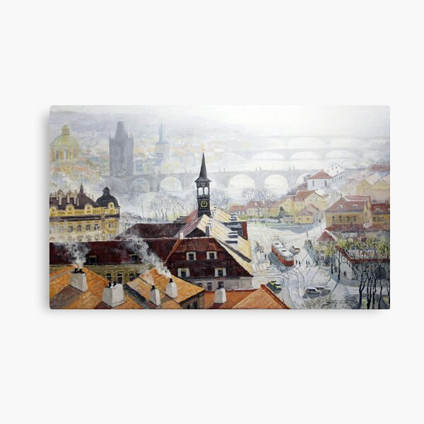Praha Early Spring Canvas Print