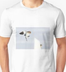 Hide and go Peep - Snow Buntings Unisex T-Shirt
