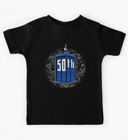 Happy 50th Tardis Kids Clothes