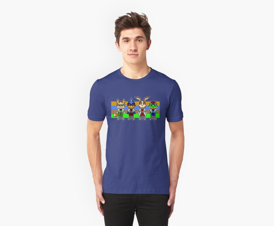 Star Fox Team Pixels by geekmythology