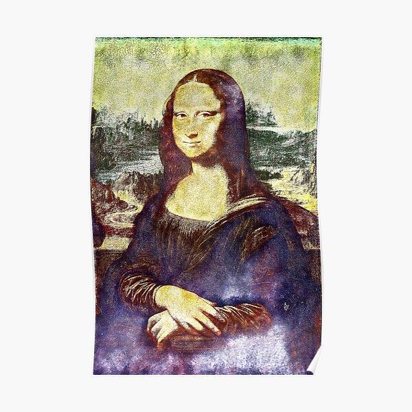 Poster Affiche Mona Lisa La Joconde De Vinci Peinture Historique