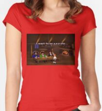 I want to be a pirate! (Monkey Island 2) Women's Fitted Scoop T-Shirt