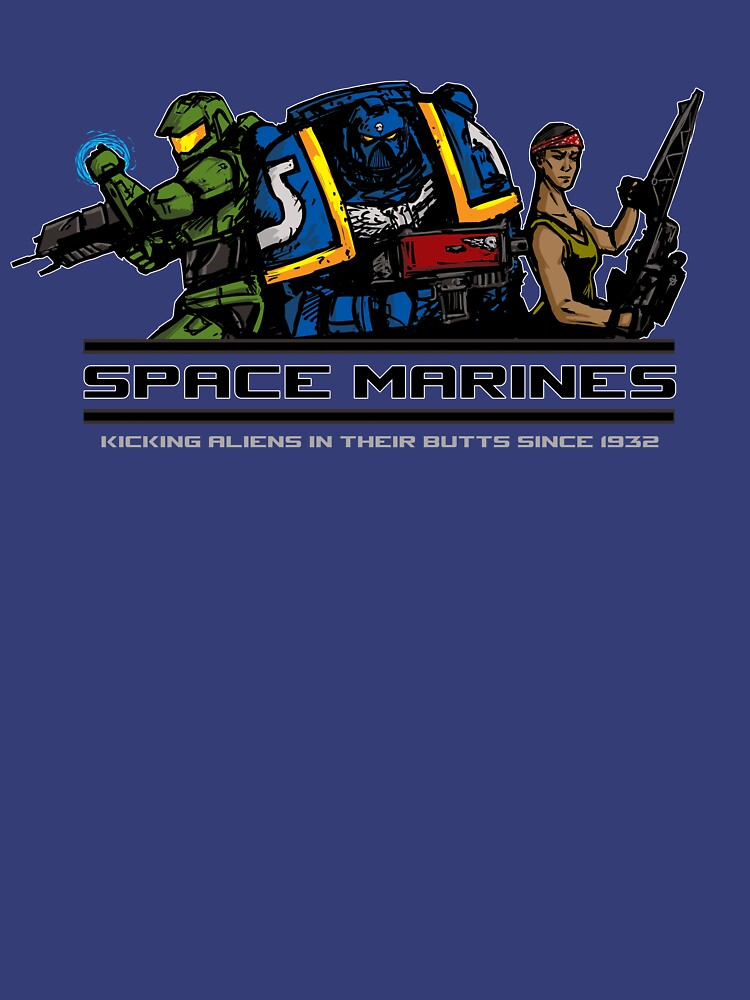 Space Marines! | Unisex T-Shirt, a t-shirt of cool, geek