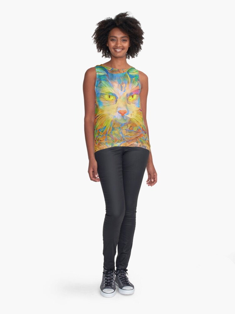 Alternate view of Abstract Digital painting Sleeveless Top