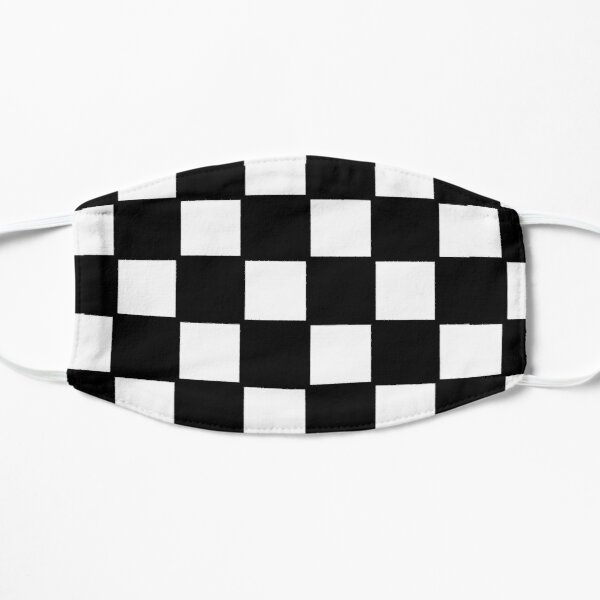 Emo Checkerboard black and white Flat Mask
