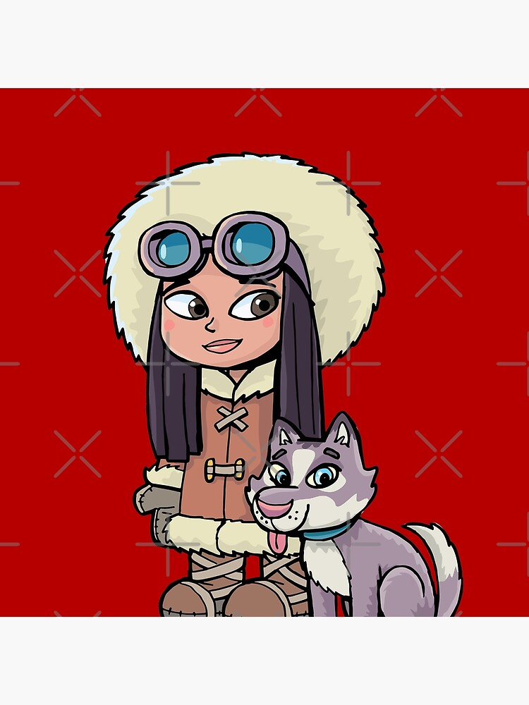 Eskimo girl with a polar dog friend by duxpavlic