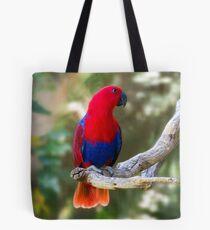 Female Electus Parrot Tote Bag