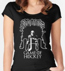 Game of Hockey - Game of Thrones Inspired Women's Fitted Scoop T-Shirt