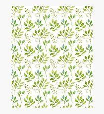 Watercolor leaves pattern Fotodruck