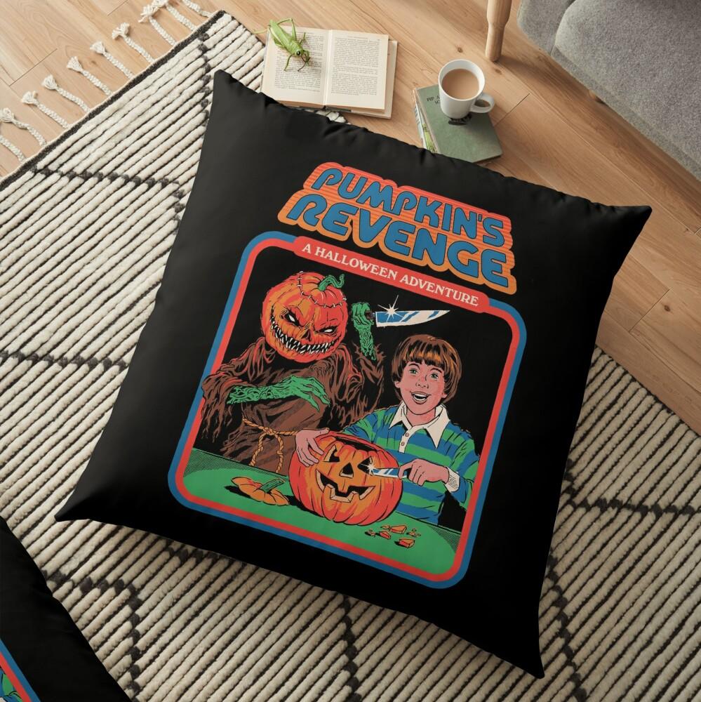 Pumpkins Revenge Floor Pillow