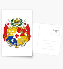 Coat of Arms of Tonga  Postcards