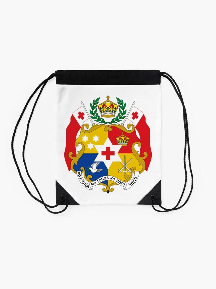 Alternate view of Coat of Arms of Tonga  Drawstring Bag