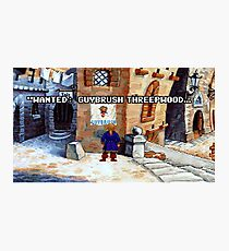 Wanted Guybrush Threepwood! (Monkey Island 2) Photographic Print