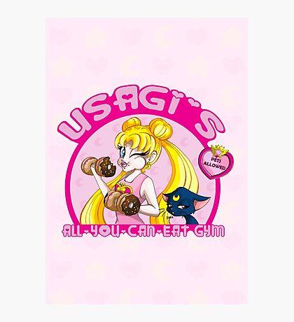 Usagi's All-You-Can-Eat Gym Photographic Print