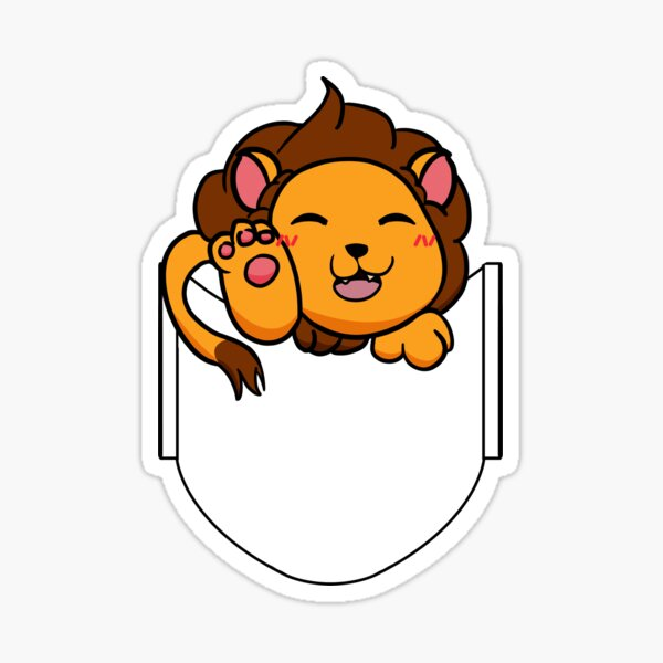 Pocket Lion Sticker