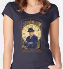 Inspector Spacetime Nouveau Women's Fitted Scoop T-Shirt