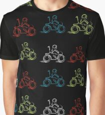 Man on a scooter  Graphic T-Shirt
