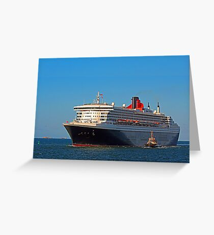 Queen Mary 2 - Fremantle Western Australia  Greeting Card