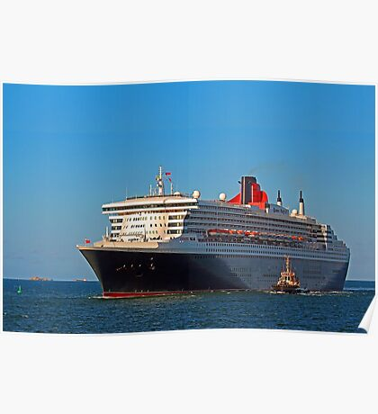 Queen Mary 2 - Fremantle Western Australia  Poster