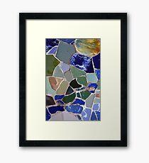 Gaudi Mosaics Framed Print