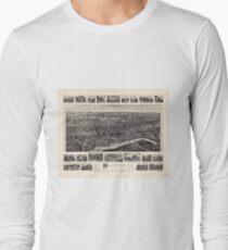 Bird's-eye view Map of Branford Connecticut (1905) Long Sleeve T-Shirt